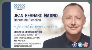 Jean-Bernard Émond – Député de Richelieu
