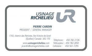 Usinage Richelieu